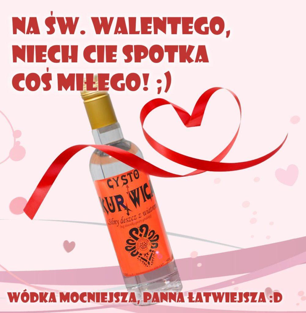 Alkohol na Walentynki Wódki Regionalne Kurnwica